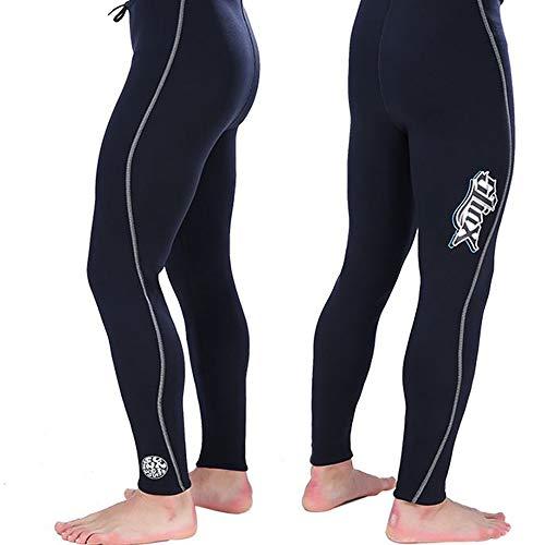 HBRT Neoprenhose, 3 mm Premium Neoprenanzug Suit Tauchweste Kälteschutz Warm halten zum Schwimmen Schnorcheln Surfen Angeln,S