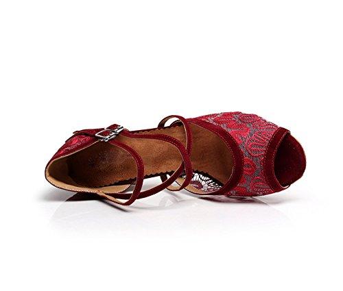 MINITOO ,  Damen Tanzschuhe, rot – Red-6cm Heel – Größe: 41 - 2