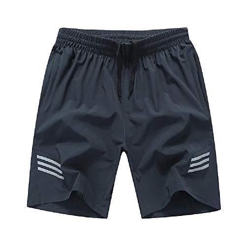 NOBRAND Pantalones cortos deportivos para hombre, engordar y adelgazar, pantalones cortos, pantalones cortos, pantalones cortos informales, pantalones cortos de secado rápido Gris gris oscuro 54
