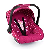 Baby Doll Deluxe Car Seat with Canopy- Polka dots