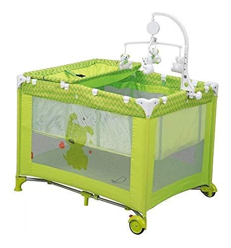 D'BEBE Corral Cuna Zoo Baby, color Verde, paquete de 1