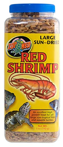 Large Sun-Dried Red Shrimp - Turtle Food - Includes Attached DBDPet Pro-Tip Guide