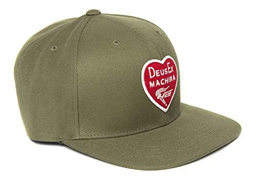 Deus ex machina Heart Baseball Cap Olive Größe: one size