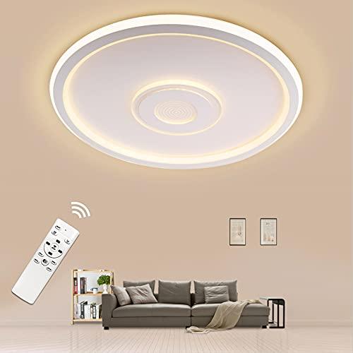 Led Deckenleuchte Dimmbar, 36W 3600LM Deckenlampe mit Fernbedienung, Rund Lampe für Wohnzimmer, Schlafzimmer, Kinderzimmer, küche, 415mm Weiß Modern Ultradünn