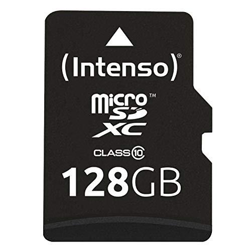 Intenso Micro SDHC 128GB Class 10 Speicherkarte inkl. SD-Adapter, Schwarz