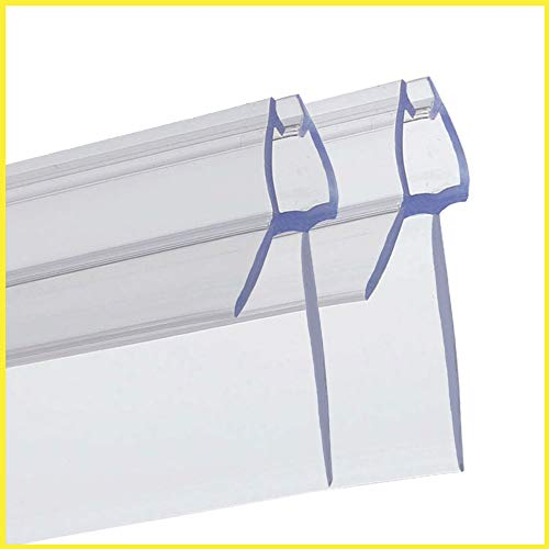 PREMIUM GRID Duschtür Dichtung (2x 100cm) für 6mm 7mm 8mm Glastür Stärken | Wasserabweisende Duschdichtung oder Duschkabinen-Dichtung mit optimal angeordneten Gummilippen