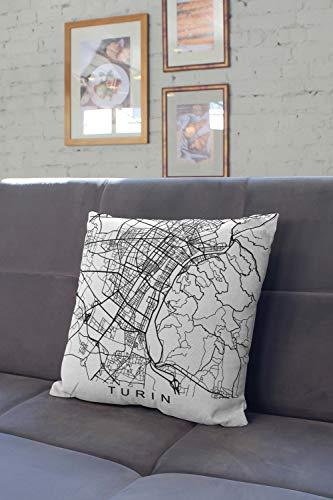 Lplpol - Almohada de Italia para decoración judía de Turín, fundas de almohada decorativas para sofá de casa, sofá, cama, 61 x 61 cm