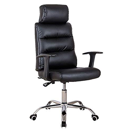 XYYMX Boss Chair Office Chair, Ergonomic Design Heavy-Duty Metal Base, High Resilience Sponge Cushion, High-Back Executive Desk Computer Task Chair, Black
