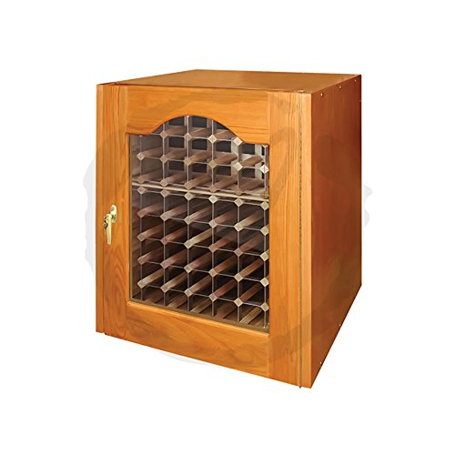 Hot Sale Provincial 114-Model White Oak Wine Cabinet with Glass Door by Vinotemp