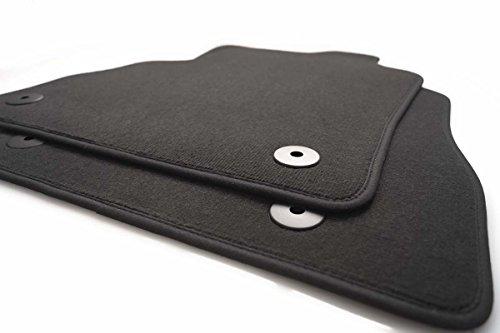 kh Teile Fußmatten passend für Caddy 2K Kasten Kombi Maxi Life Velours 2-teilig Vorn schwarz