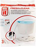 Dogit Fresh & Clear Elevated Dog and Cat Water Fountain, Replacement Filters, 3 Pack, 91401