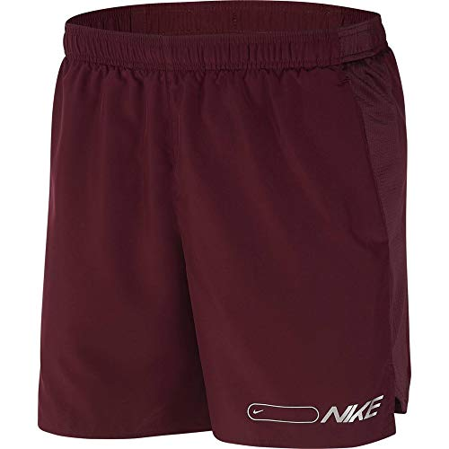 Nike Herren Air Challenger 7in Bf Shorts Badeshorts, Rot (Night Maroon/Reflective Silv), (Herstellergröße: Medium)