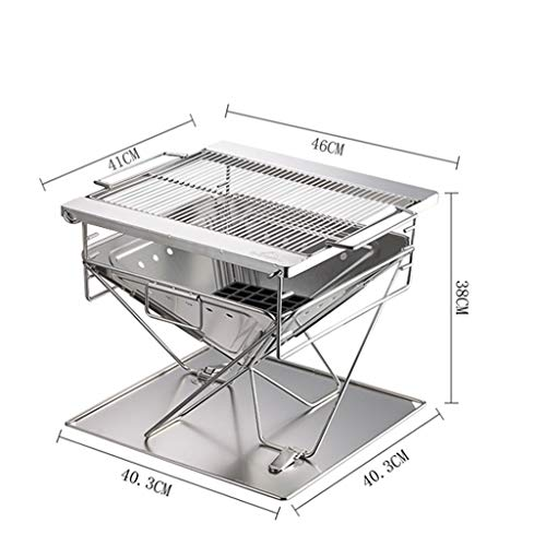 41EVSeQf98L - WYJBD Metall Outdoor Grillzubehör, Folding Barbecue-Ofen Barbecue Licht Holzkohlegrilgrill Non Stick im Freien