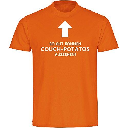 T-shirt. Zo goed kunnen bank-Potato's uitzien! oranje heren maat S tot 5XL