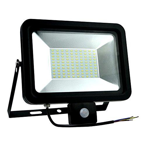 Foco LED con detector de movimiento 50W 218mA neutro 4000÷ 4500K 3500LM IP65Foco exterior Foco halógeno Slim 1678