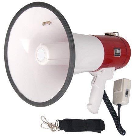 EX ELECTRONIX EXPRESS Pro 50 Watt Loud Megaphone W/Siren Bullhorn Speaker Outdoor Portable Amplifier
