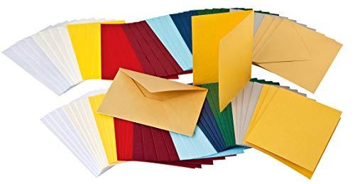 Karten-Set, 80-teilig, Doppelkarten, DIN A6, Umschläge, Karten basteln, von VBS