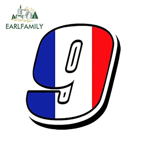 PJYGNK Sticker de Carro 13 cm x 10 cm Estilo de Coche números de Carreras Vinilo Bandera de Francia Pegatina de Coche Motocross GP Coche ATV Bike Accesorios Impermeables
