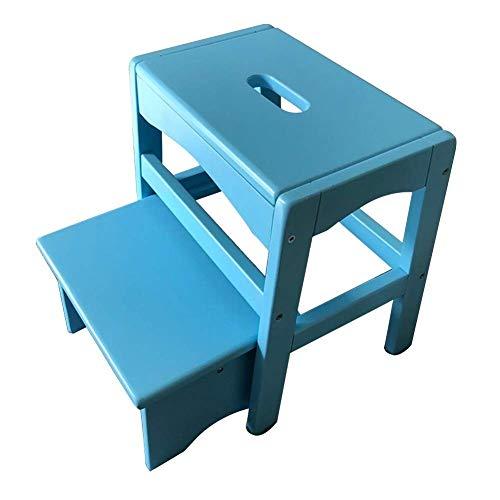 LSK-Hockerleiter 2 Stufen Trittleiter Hockerleiter Kleine Leiter Regal Familie Küche Hilfs (Color : Blue)