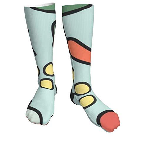 tyui7 Calcetines de compresión para mujeres y hombres Taco Chill Pattern Heel Calcetines gruesos: lo mejor para correr, deportes atléticos, viajes en avión, embarazo, fútbol