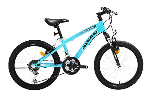 20 Zoll Kinder Jungen Mädchen Fahrrad Kinderfahrrad MTB Mountainbike Fahrrad Rad Bike Gabelfederung Federgabel 21 Gang Beleuchtung KDS 2750 BLAU