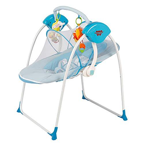 SHARESUN Elektrische schommelhangmat, New-Born Baby schommelstoel en Bouncer met liedjes en geluiden, Geschikt vanaf de geboorte, Indoor outdoor