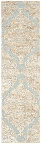 Safavieh Moderner Teppich, PAR348, Gewebter Viskose Läufer, Grau / Gold Braun, 62 x 240 cm