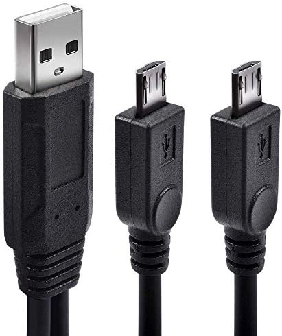 Dual Micro USB Splitter Charge Cable Micro USB Charge Two Devices at Once from a Single USB product image