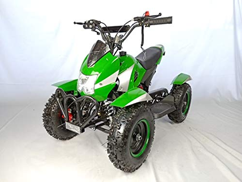 Mini quad de gasolina con motor de 49cc de 2 tiempos -ATV07 COBRA. / Mini quad para niños de 4 a 10 años/miniquad infantil (VERDE)