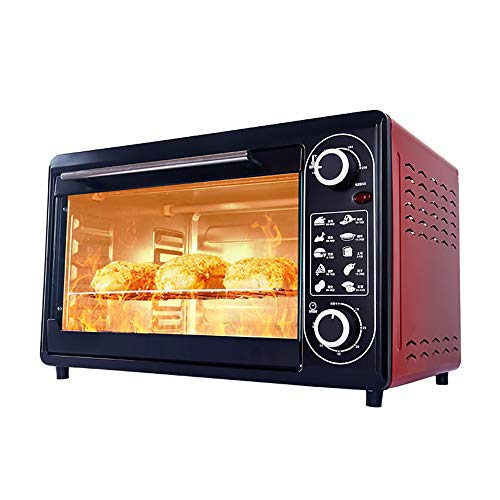 SLFPOASM Mini Electric Oven,Table Top Oven?Multifunctional Household Electric Oven,Electric Pizza Oven Maker?Heating Timing Function And Temperature Adjustment Function