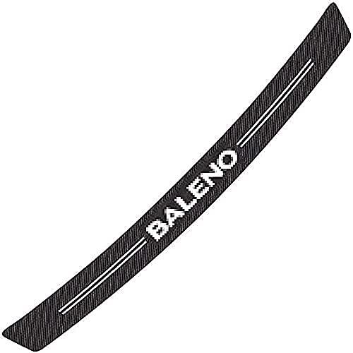 Pegatinas de fibra de carbono para placa de parachoques trasero de coche para Suzuki Baleno, protección de moldura antirrayas, accesorios de diseño de pegatinas de coche