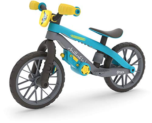 Chillafish BMXie Moto Multi-Play Balance Trainer with Real VROOM VROOM Sounds and Detachable Play Motor, Included Child-Safe Screwdriver and Screws, Adjustable seat, for Age 2-5 Years, Blue