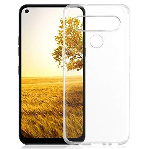 ROVLAK Hülle für LG K61 Kratzfeste TPU Weiche Silikon Hülle+Stoßfestes Dünnes Klares Tasche für LG K61 Smartphone Cover