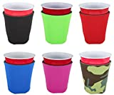 None Blank Foam Collapsible Bottom Party Cup Coolie (6, Various)