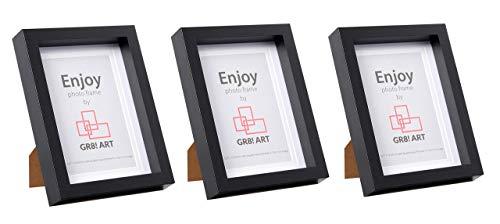 GR8! Art - Marco de fotos, madera MDF, negro, 5x7