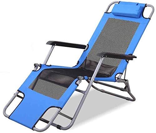 ADHW - Tumbona ajustable de aluminio, tumbona, tumbona de jardín, silla, brazos acolchados, sillas largas plegables exteriores