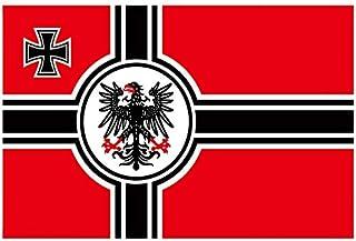 XiaoOu Bandera del Orgullo Bandera del Imperio alemán Bandera de Guerra de poliéster de 3 x 5 pies Alemania Gran Bandera de Guerra del Reich alemán Banderas de águila, 60 x 90
