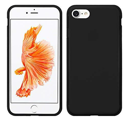 TBOC Schwarz Gel TPU Hülle für Apple iPhone 7 - iPhone 8 - iPhone SE (2020) (4.7 Zoll) Superdünn Flexibel Silikonhülle