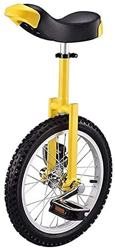 Bicicleta Monociclo Monociclo para Adultos Niños Principiantes Monociclos Rueda de 16/18 Pulgadas, Horquilla de Acero al manganeso de Alta Resistencia, Asiento Ajustable, Antideslizante Butyl Mounta