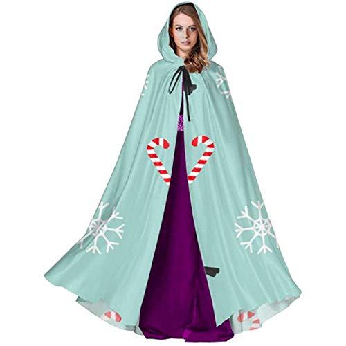 Black-Sky Capa con Capucha de Postre de piruleta de Navidad para ...