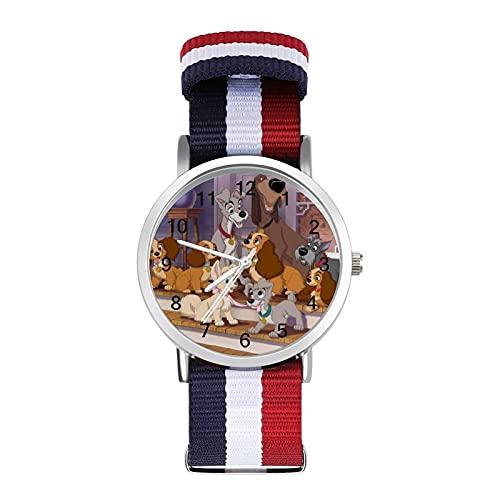 Lady TrampBraided - Reloj de pulsera ajustable con escala para negocios, banda de impresión a color, adecuado tanto para hombres como para mujeres
