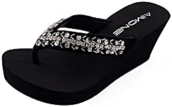 Silvery Appoline Flip Flop Sandals