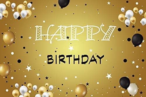 Baocicco 9x6ft Happy Our shop OFFers the best service Birthday Spasm price Backdrop White Gold Photoshoot and