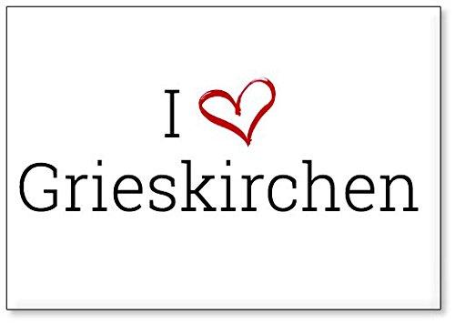 M&us Souvenirs - Ich Liebe Grieskirchen, Kühlschrankmagnet (Design 3)