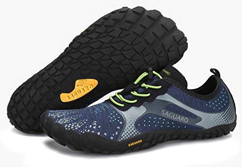 SAGUARO Sommer Unisex Wasserschuhe Damen Schnell Trocknend Strandschuhe Herren rutschfest Outdoor Fitness Schuhe Blau 44