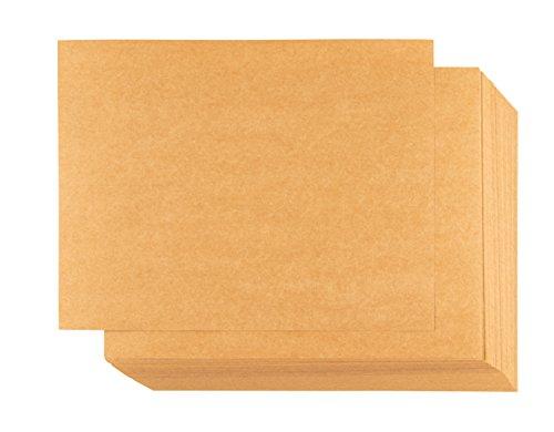 Papel kraft – 100 hojas de papel kraft, tarjetas de notas imprimibles en blanco para impresoras de...