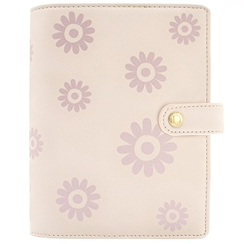 Discagenda Blossoms Planner Organizer Snap Closure (Rose Gold, Personal)