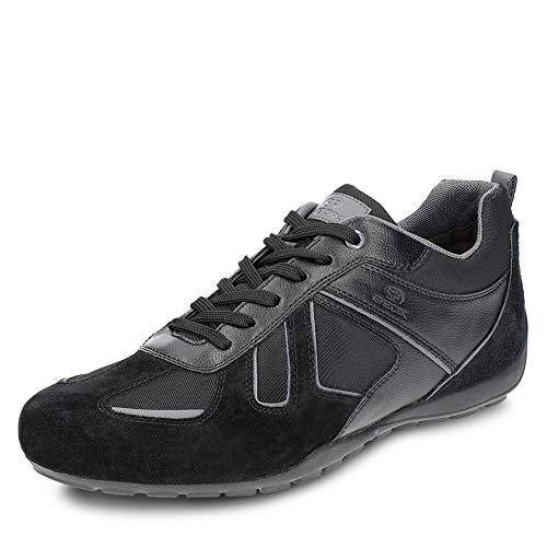 Geox RAVEX U923FD Herren Low-Top Sneaker,Männer Halbschuh,Sportschuh,Schnürschuh,atmungsaktiv,SCHWARZ,41