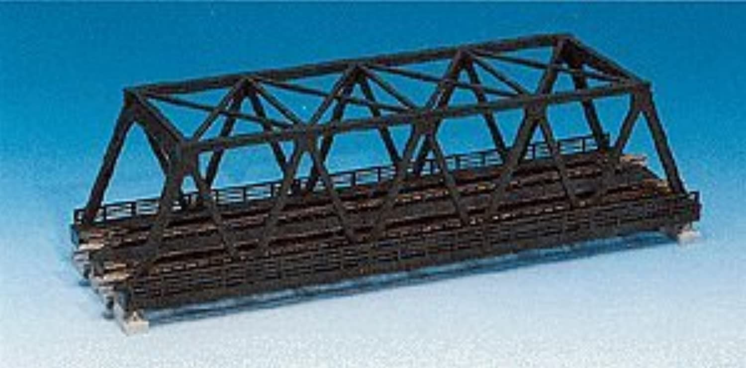 N 248mm 93 4 Double Track Truss Bridge, Silver by Kato USA, Inc.