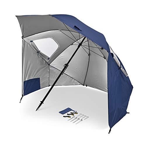 Sport-Brella Premiere XL UPF 50+ Umbrella Shelter for Sun and Rain Protection (9-Foot, Blue)